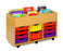 6 bay kinderbox unit with trays
