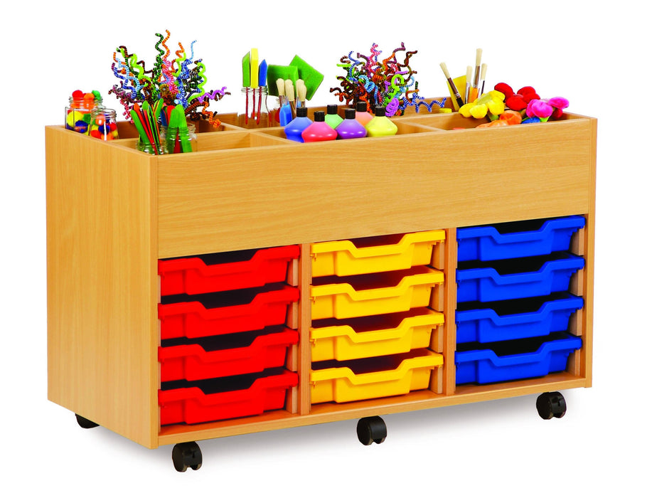6 bay art kinderbox unit with trays