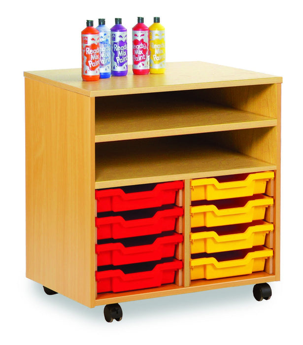 Enable Shelf Unit with trays and shelves