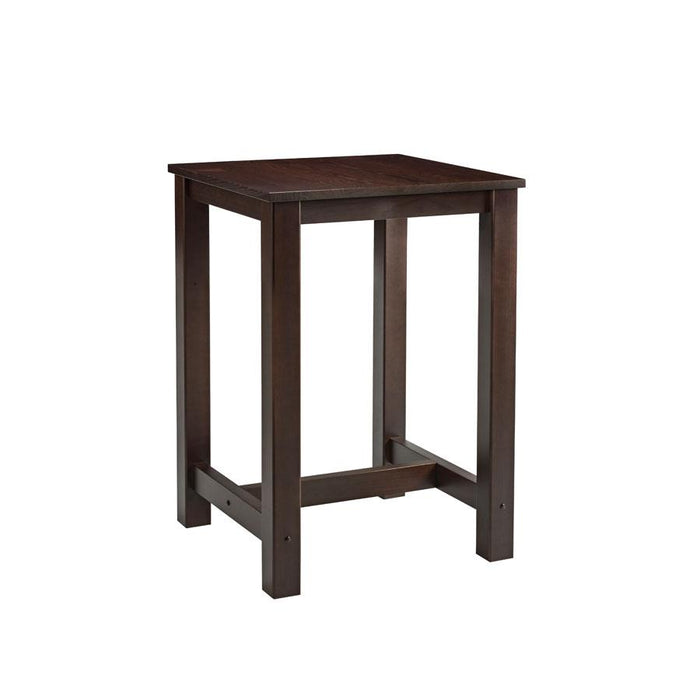 Mist Square Bar Table - Dark Walnut