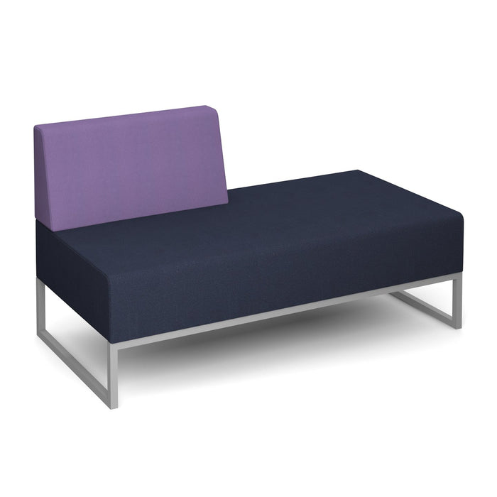 Nera Modular Soft Seating Double Bench Right Back