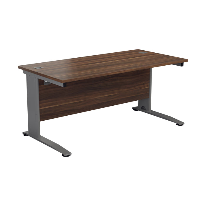 One Cable Cantilever Office Desk - 800mm Deep