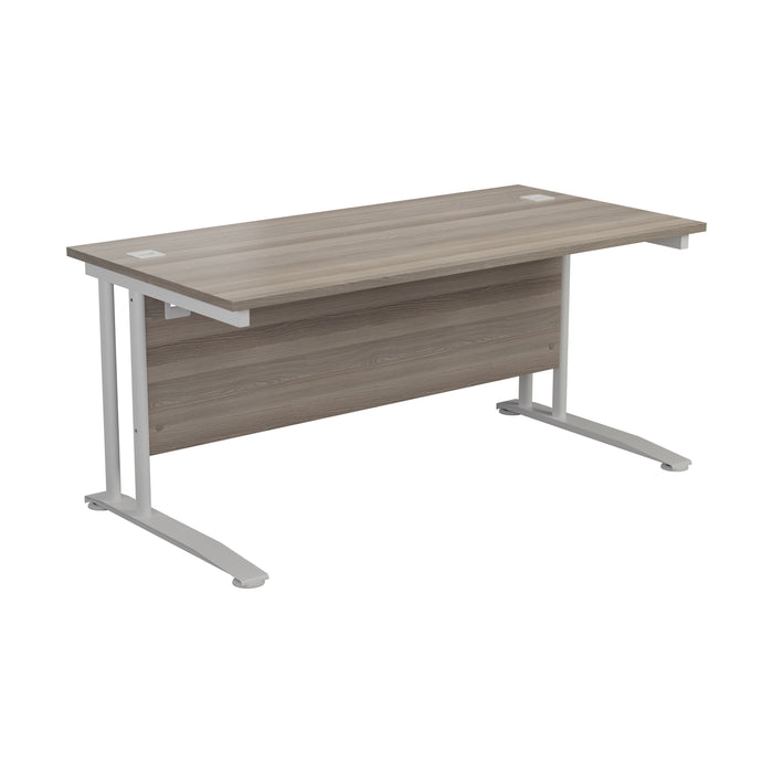 One Cantilever Plus Rectangular Office Desk - 800mm Deep