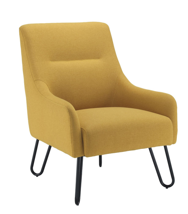 Pearl Reception Chair - Mustard
