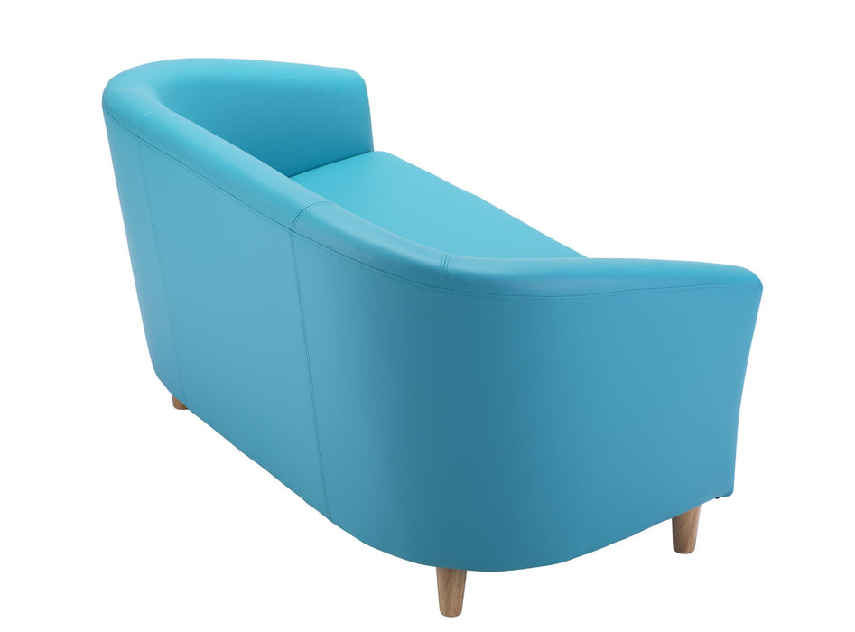 Vibrant Tub Sofa Wooden Feet