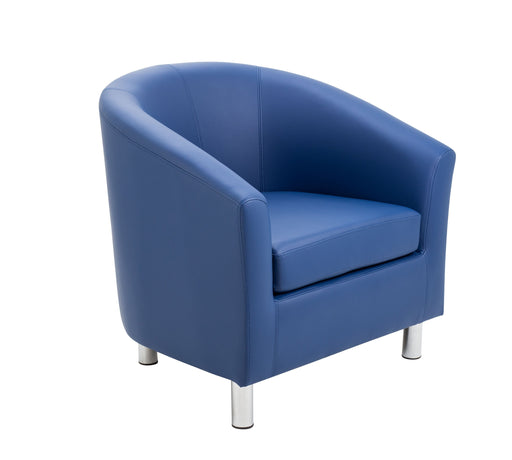 Vibrant Tub Armchair Metal Feet- Blue