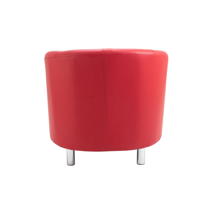 Vibrant Tub Armchair Metal Feet- Red