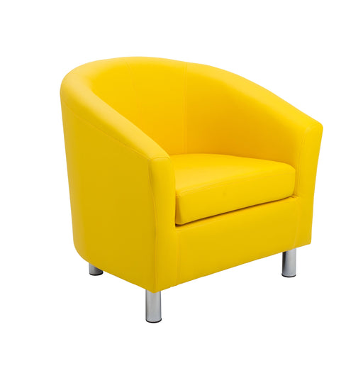 Vibrant Tub Armchair Metal Feet- Yellow