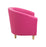 Vibrant Tub Armchair Wooden Feet - Pink