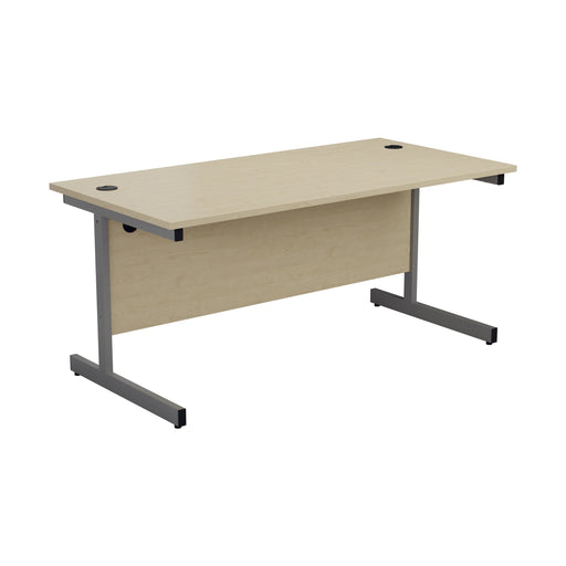 One Cantilever Rectangular Office Desk - 800mm Deep