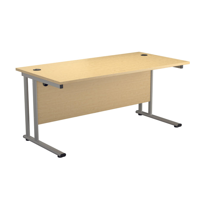 LOCO Next Day Delivery 800mm Deep Cantilever Desks White/White