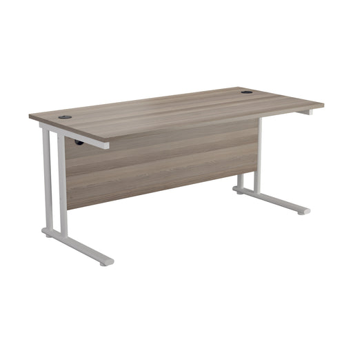 LOCO Next Day Delivery 800mm Deep Cantilever Desks Greyoak/White