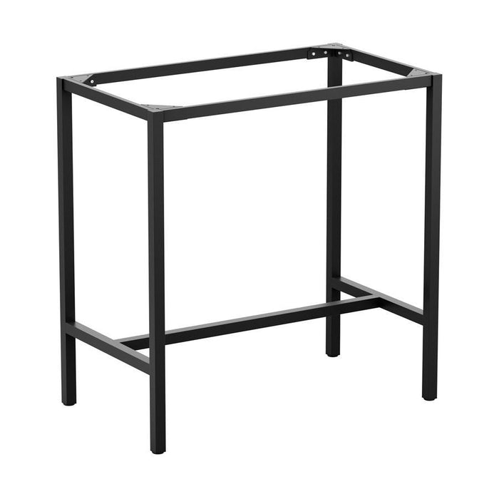 Paris 4 Leg - 4 Seater Bar Height Black Base