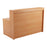 Simple Reception Desk 1400mm x 800mm - GreyOak