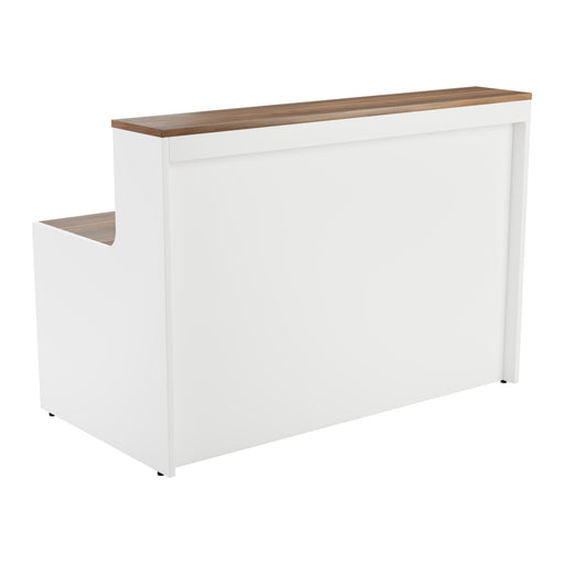 Simple Reception Desk 1400mm x 800mm - Walnut/White