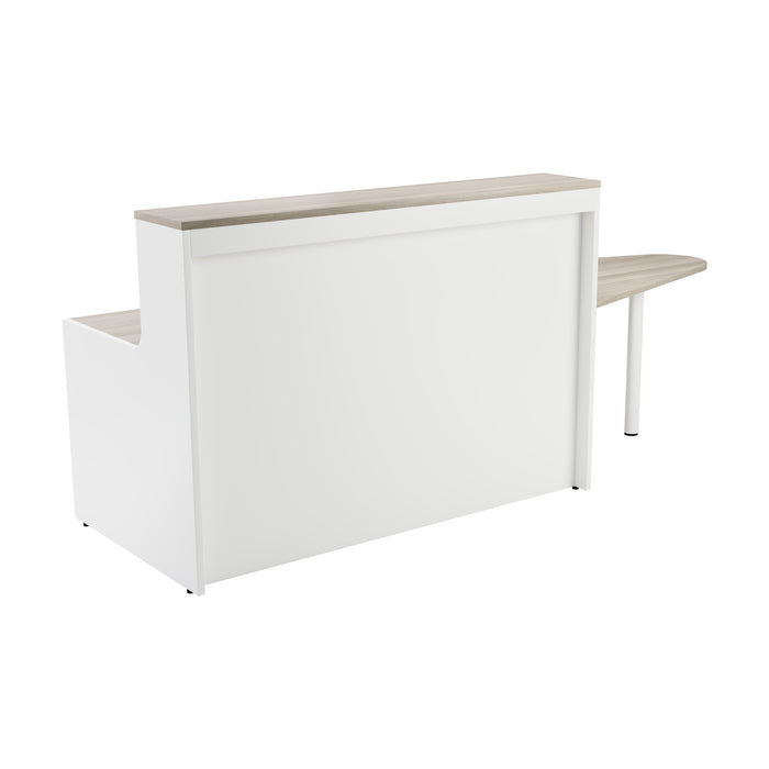 Simple Reception Desk 2600mm x 800mm - Beech