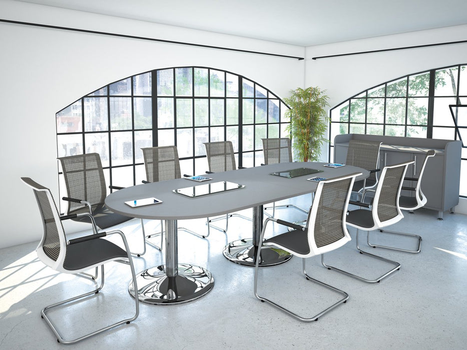 Kingston Elliptical Boardroom Tables With Tuilp Legs