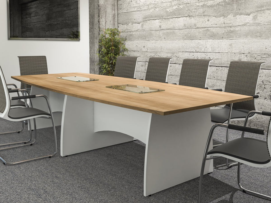 Kingston Circular Meeting Tables With Panel Legs