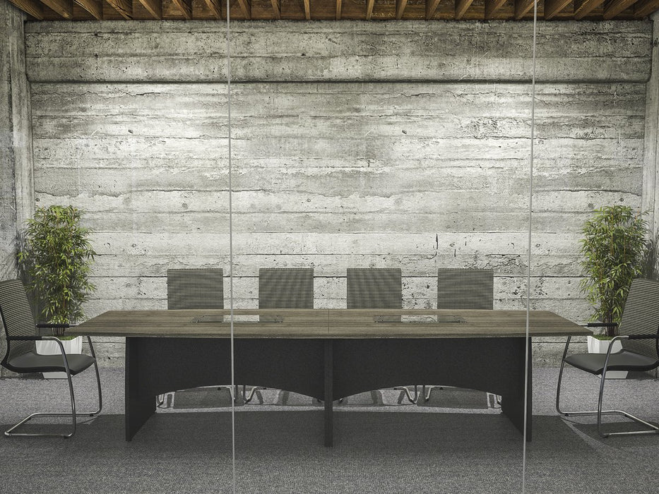 Kingston Elliptical Boardroom Tables With Panel Legs