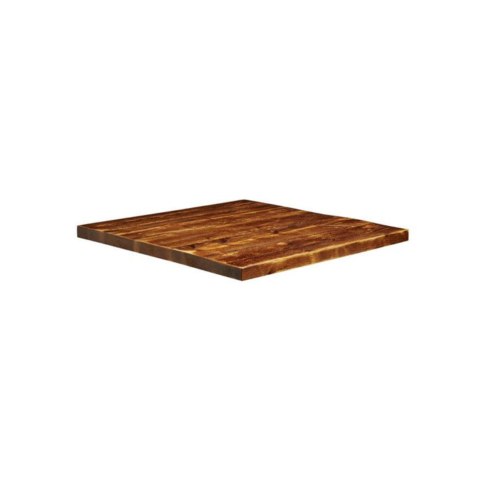 Rustic Aged Solid Wood Table Top - 600x600x32mm