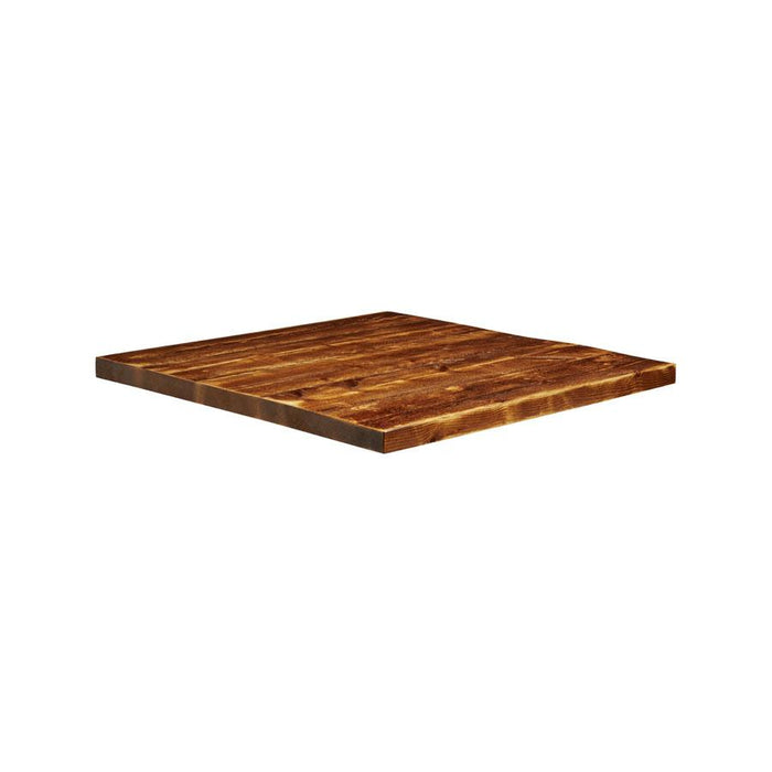 Rustic Aged Solid Wood Table Top - 700x700x32mm