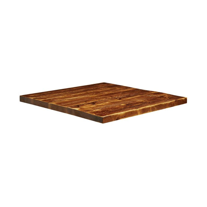Rustic Aged Solid Wood Table Top - 800x800x32mm
