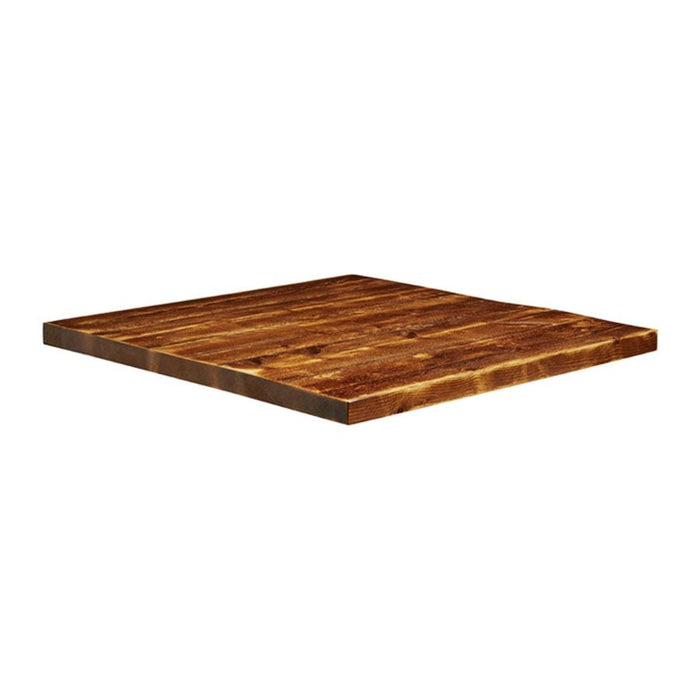 Rustic Aged Solid Wood Table Top - 900x900x32mm