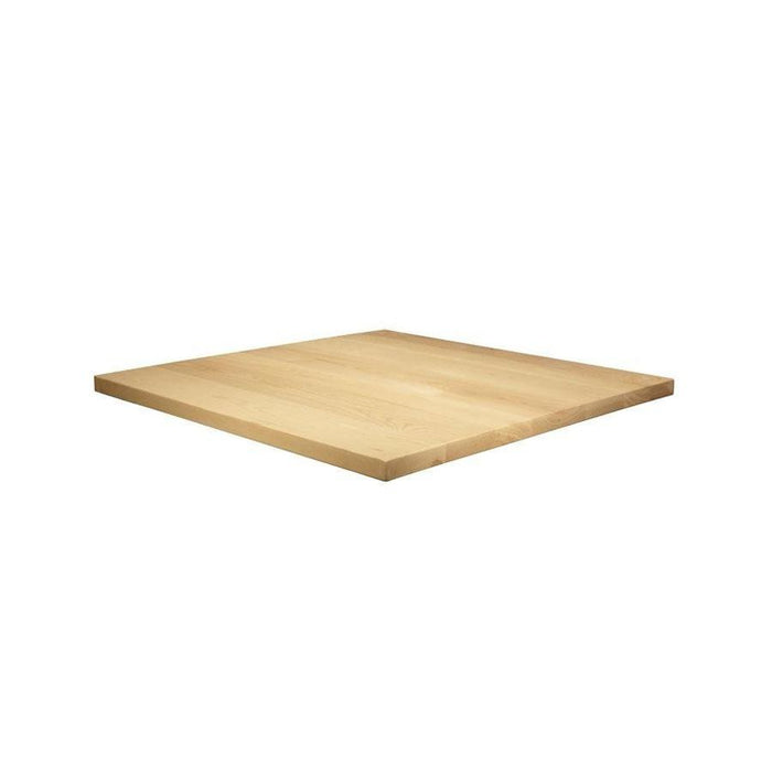 Solid Ash Table Top - Unfinished - 70cm x 70cm (Square)