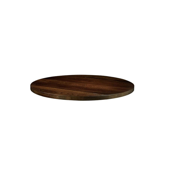 Solid Ash Table Top - Dark Walnut - 60cm dia (Round)