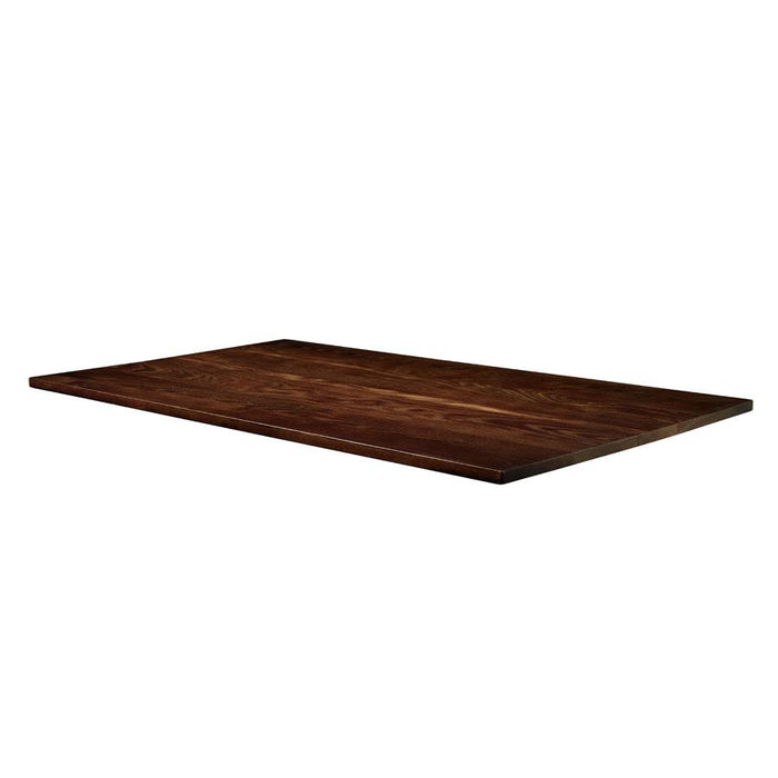 Solid Ash Table Top - Dark Walnut - 180cm x 70cm (Rect)