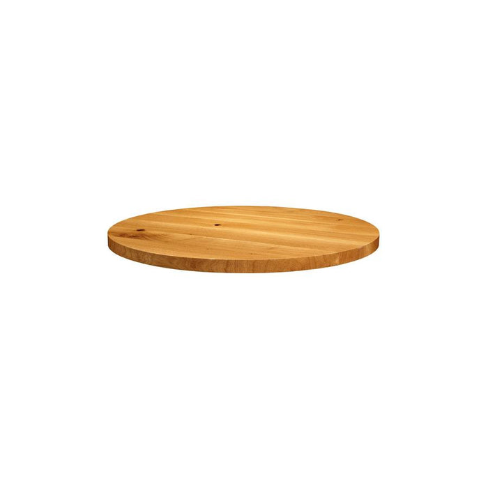 Natural Lacquered Character Oak - 60cm dia (Round)