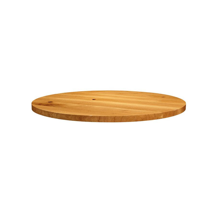 Natural Lacquered Character Oak - 120cm dia (Round)