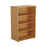 1200mm-high-book-case-beech