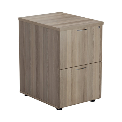 Wooden 2 Drawer Filing Cabinet - Walnut