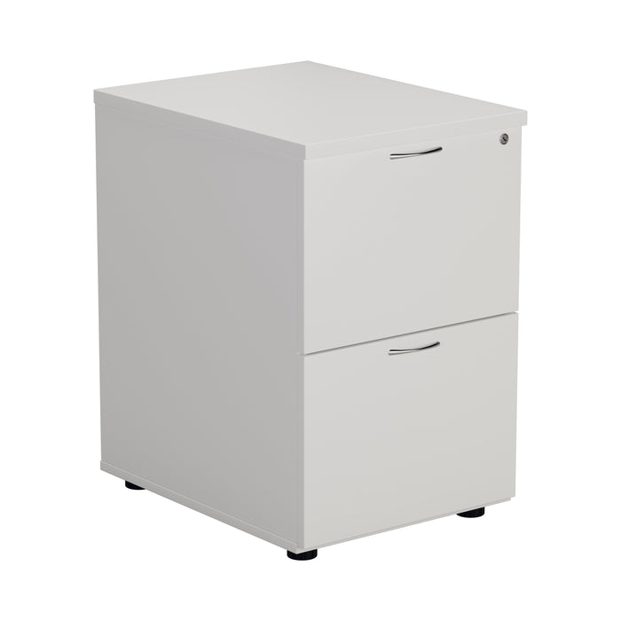 Wooden 2 Drawer Filing Cabinet - White