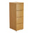 Wooden 4 Drawer Filing Cabinet - Walnut