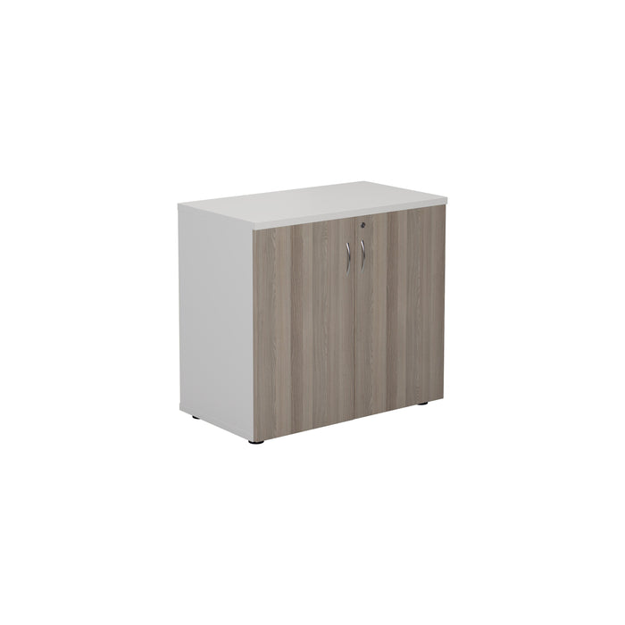 LOCO 730mm High Wooden Cupboard - White/Maple