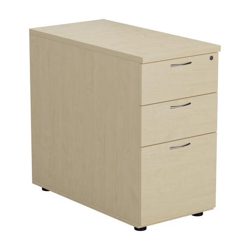 LOCO Desk High 3 Drawer Pedestal - 800mm Deep - White