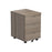 LOCO Mobile Under Desk Pedestal - Grey Oak