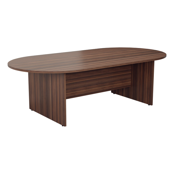 Simple D-End Meeting Table 1800mm - 2400mm
