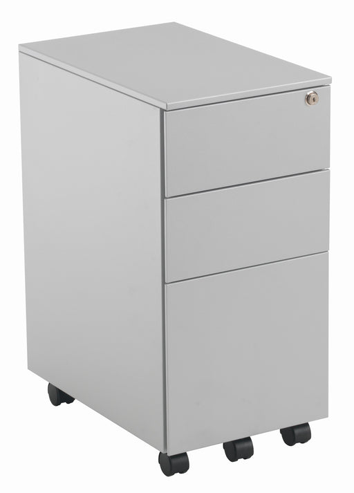 Steel Slimline 3 Drawer Under Desk Steel Pedestal