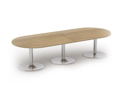 Kingston D End Boardroom Tables With Tulip Base and Glass Upstand
