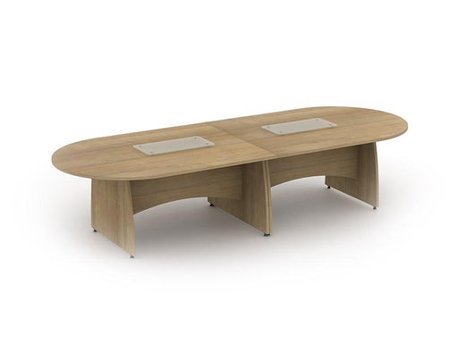 Kingston D End Boardroom Table With Panel Legs