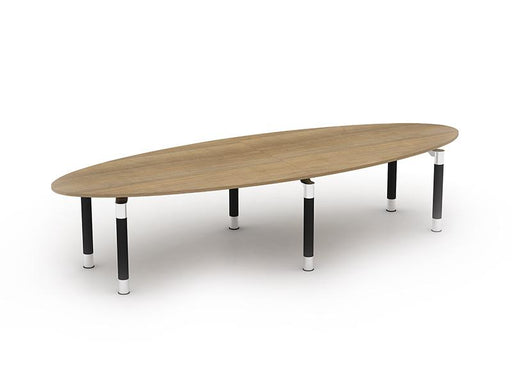 Kingston Elliptical Boardroom Tables With Metal Legs
