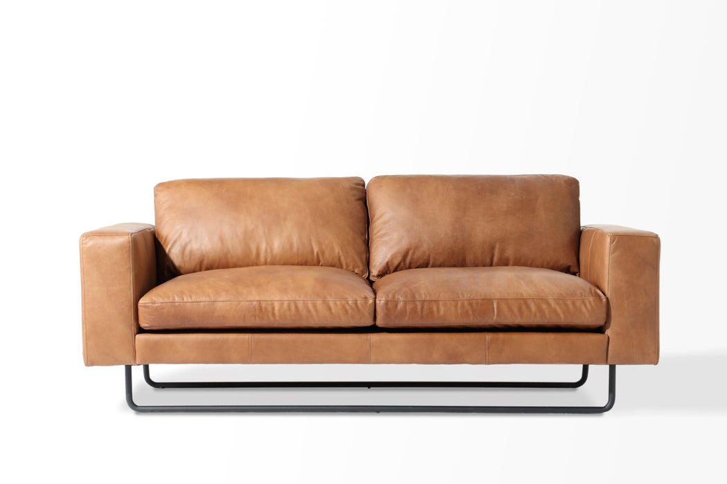 KINGSLAND 3 Seat Leather Sofa