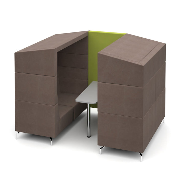 Alban Four Person Covered Meeting Booth