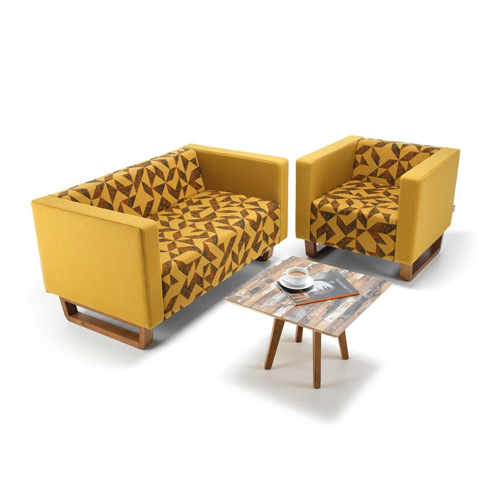 Cleo Sled Base Two Person Sofa