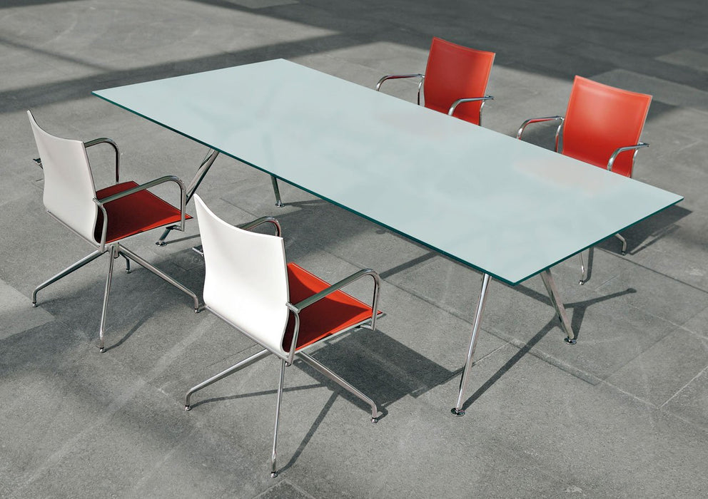 Arkitek Frosted Glass Meeting Table