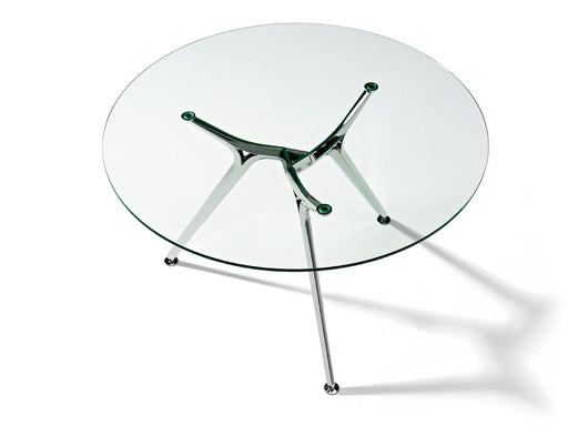 Arkitek Circular Clear Glass Meeting Table