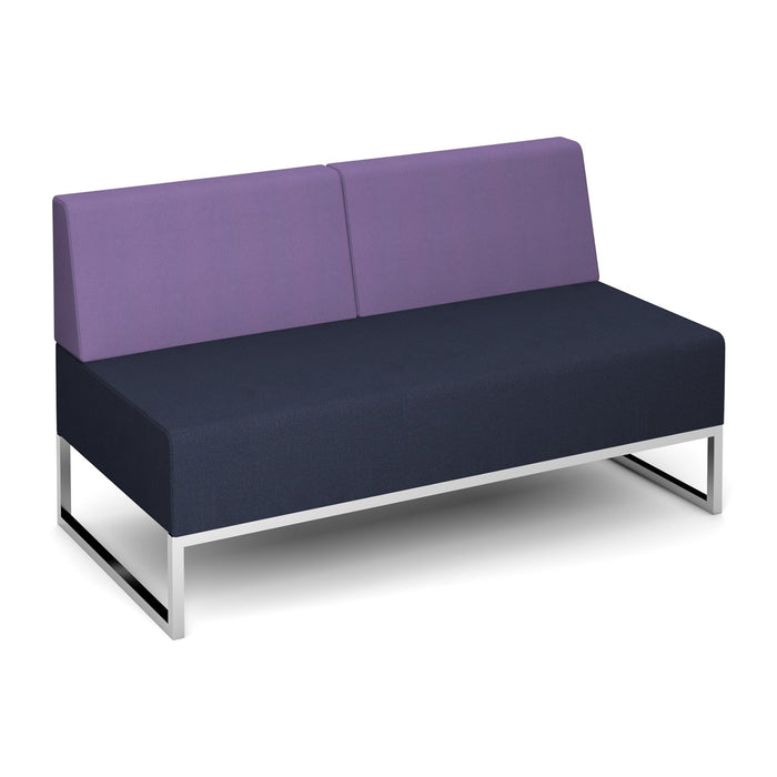 Nera Modular Soft Seating Double Bench With Back